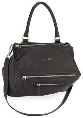 Givenchy Pandora Medium Leather Satchel Bag, Black $2,095 thestylecure.com