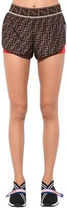 Fendi Logo Printed Sport Shorts
