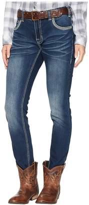 Rock and Roll Cowgirl Boyfriend Skinny in Dark Vintage W2S6683 Women's Jeans