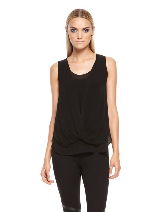 DKNY Sleeveless Blouse With Twist Front Detail