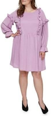 Junarose Plus Ruffle Long Sleeve Dress