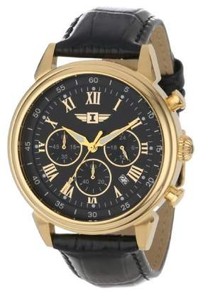 Invicta Men's 90242-003 I 18k Gold-Plated Stainless Steel Watch with Leather Band