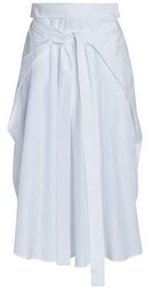 Jil Sander Tie-Front Cotton-Poplin Midi Skirt