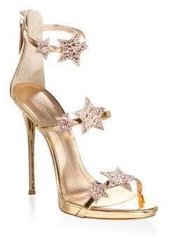 Giuseppe Zanotti Mestico Leather Open Toe Sandals
