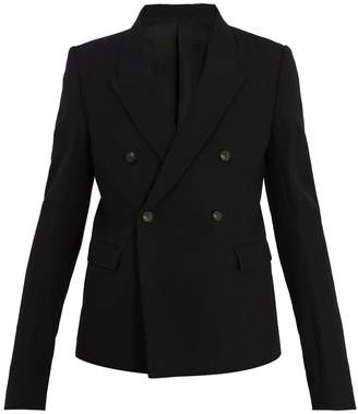 Rick Owens Double-breasted peak-lapel wool blazer