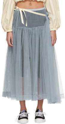 Molly Goddard SSENSE Exclusive Grey August Skirt