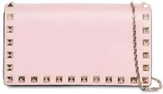 Valentino Rockstud Embellished Leather Pouch