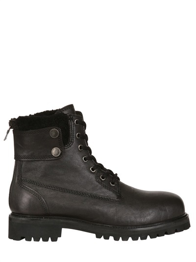 Neil Barrett Sheepskin Combat Boots