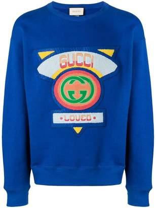 Gucci flocked sweatshirt