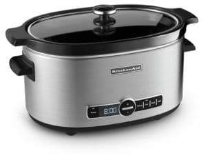 KitchenAid Six-Quart Slow Cooker with Glass Lid KSC6223SS