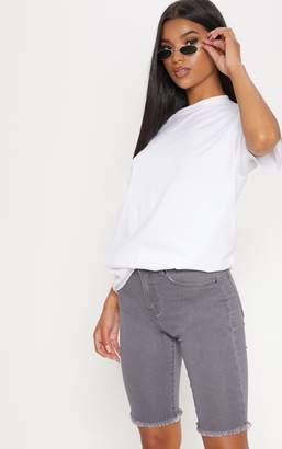 PrettyLittleThing Grey 3/4 Skinny Shorts