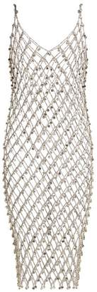 Paco Rabanne Crystal Embellished Chain Dress - Womens - Silver