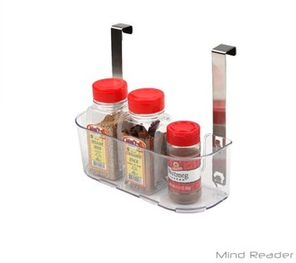 clear Mind Reader Acrylic All Purpose Storage Shelf with Hook,