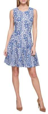 Tommy Hilfiger Floral Lace Fit-&-Flare Dress