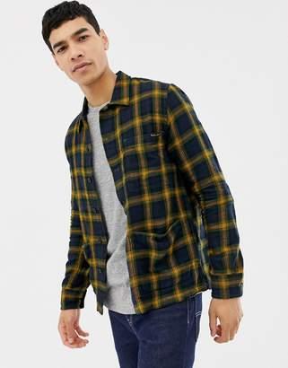 Nudie Jeans Sten check shirt navy