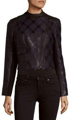 Cropped Front-Zip Jacket