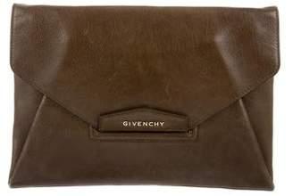 Givenchy Leather Antigona Clutch