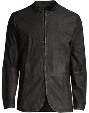 John Varvatos Slim Leather Jacket