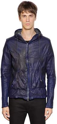 Giorgio Brato Hooded Nappa Leather Jacket