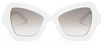 Celine Butterfly Acetate Sunglasses - Womens - White