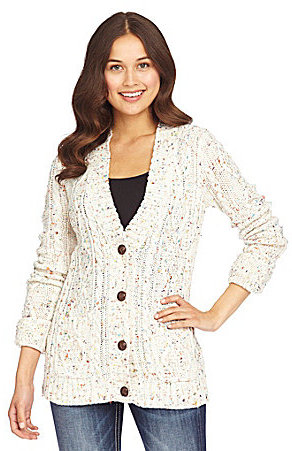 Miss Me Button-Front Sweater