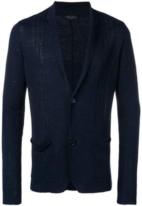 Roberto Collina navy lightweight cardigan