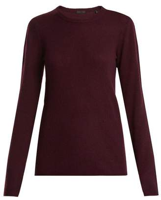Atm - Crew Neck Cashmere Sweater - Womens - Burgundy
