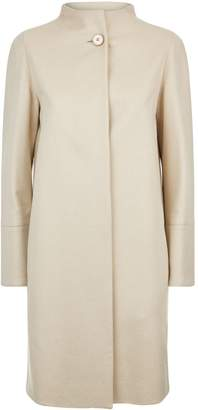 Cinzia Rocca Collarless Cashmere Coat