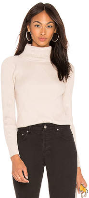 J.o.a. Turtleneck Ribbed Top