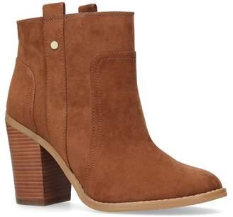 Nine West Tan 'Haynes' High Heel Ankle Boots