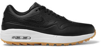 Nike Air Max 1g Faux Leather And Rubber Golf Shoes - Black
