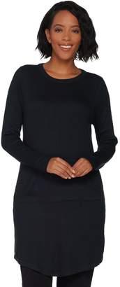 Anybody AnyBody Loungewear Ribbed Brushed Hacci Tunic w/ Kangaroo Pocket