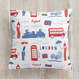 London Calling Square Pillow