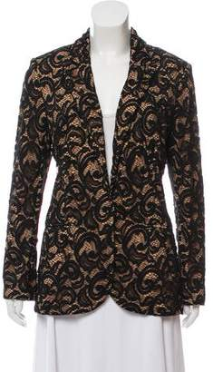 Norma Kamali Lace Single-Breasted Blazer w/ Tags