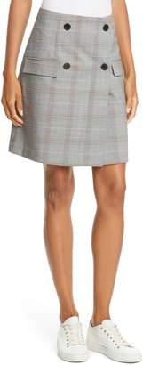 Judith & Charles Como Glen Plaid Wrap Miniskirt