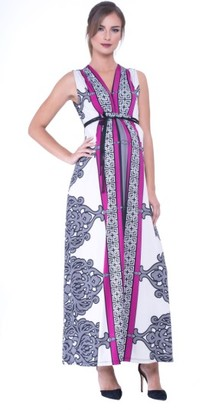 Women's Olian Print Maxi Maternity Dress $172 thestylecure.com