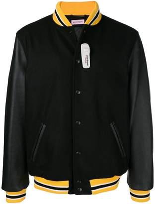 Palm Angels stripe detail bomber jacket