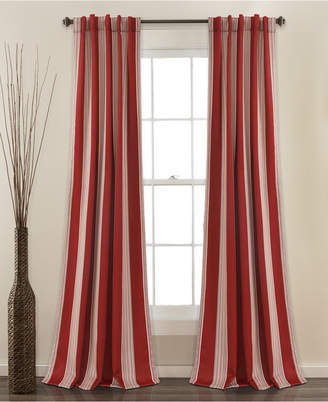"Lush Decor Julia Stripe 52""x84"" Room Darkening Window Curtain Set"