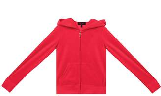 Juicy Couture Velour Encrusted Heart Robertson Jacket for Girls