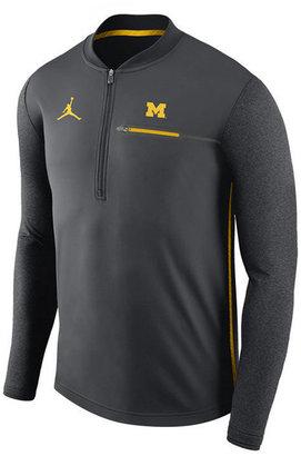 Nike Men's Michigan Wolverines Coaches Quarter-Zip Pullover $85 thestylecure.com