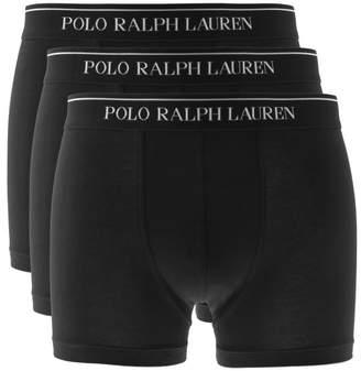 Ralph Lauren Underwear 3 Pack Boxer Shorts Black