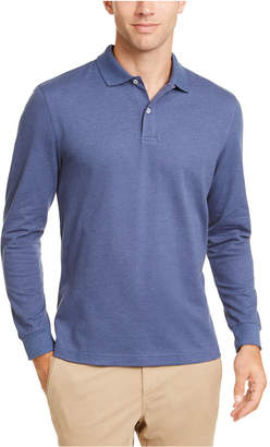 Club Room Men Long-Sleeve Heathered Polo Shirt