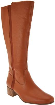 Halston H By H by Tall Shaft Leather Boot with Goring - Sasha
