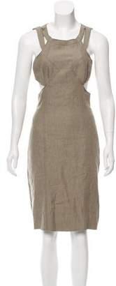 Proenza Schouler Linen Cutout Dress