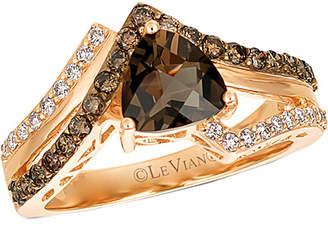 LeVian Le Vian 14K Rose Gold 1.46 Ct. Tw. Diamond & Smoky Quartz Ring