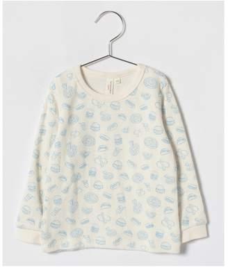 LAGOM (ラーゴム) - LAGOM フード柄ワッフル長袖Tシャツ
