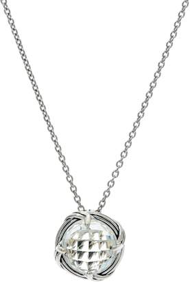 Peter Thomas Roth Sterling Round Gemstone Pendant Necklace