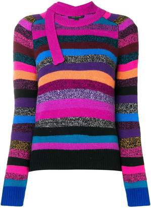 Marc Jacobs striped tie-neck cashmere sweater