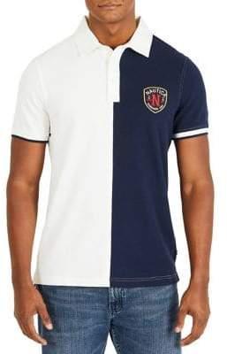 Nautica Slim-Fit Short-Sleeve Split Cotton Polo