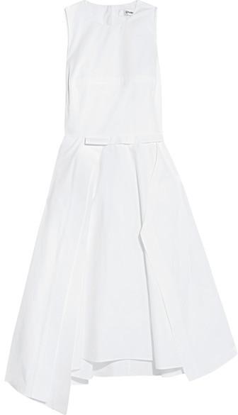 ChalayanChalayan - Asymmetric Cotton-poplin Dress - White